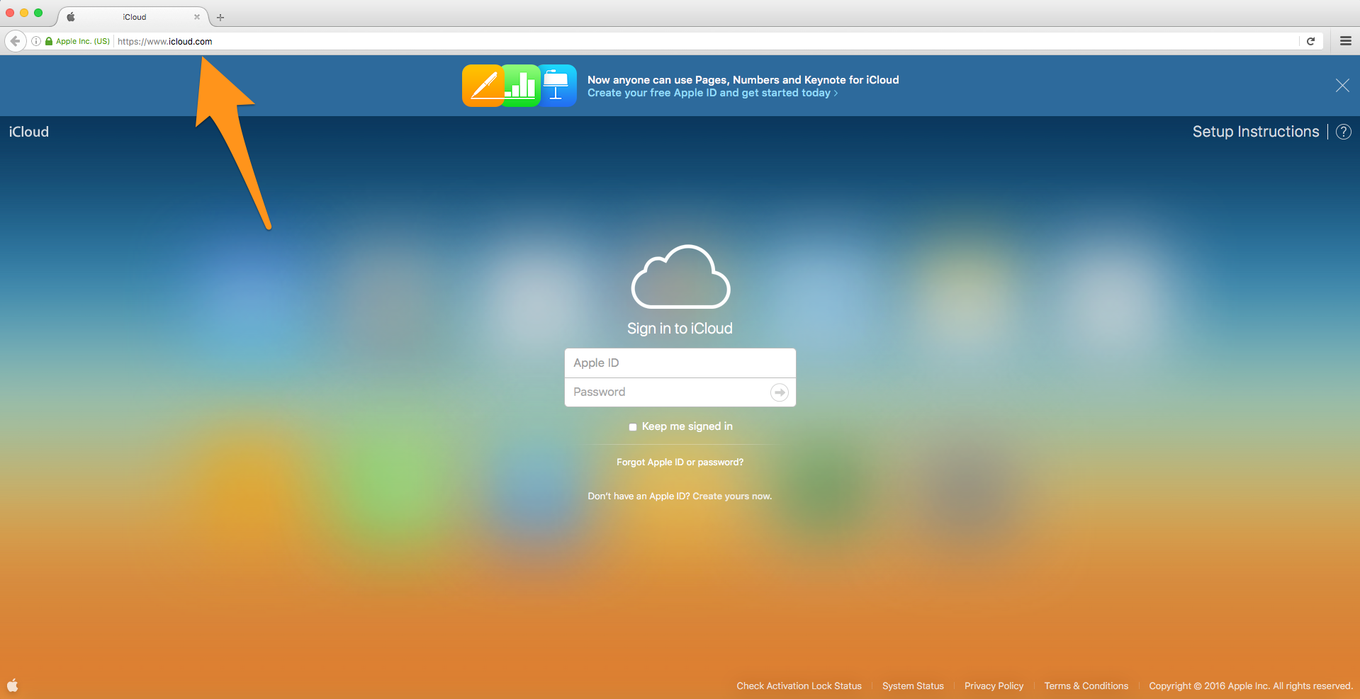 how to create an icloud account on macbook